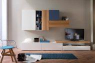 Complete TV-kast op maat met lowboards en eiken kast-elementen | Verruim