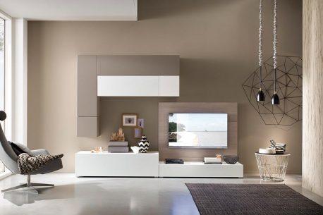 Complete TV-kast metlowboards, paneel en hangende kasten