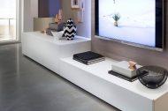Hoog en laag lowboard op maat met lade in mat wit | Verruim