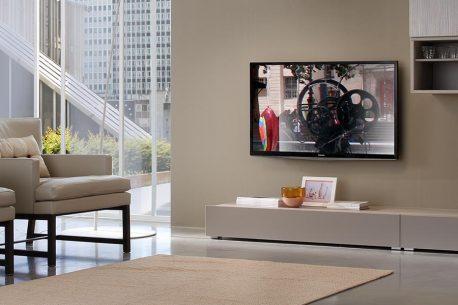 TV-kast op maat met lowboard met lade B128-H20