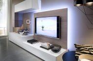 TV-kast op maat met lowboard, TV-paneel en hangende kasten   Verruim