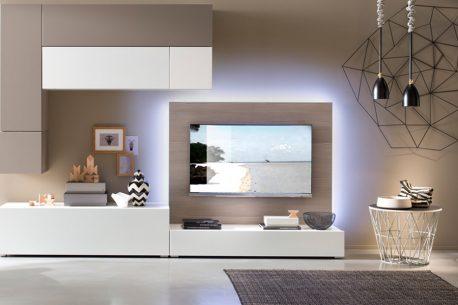 TV-paneel H128 achterwand voor een flatscreen