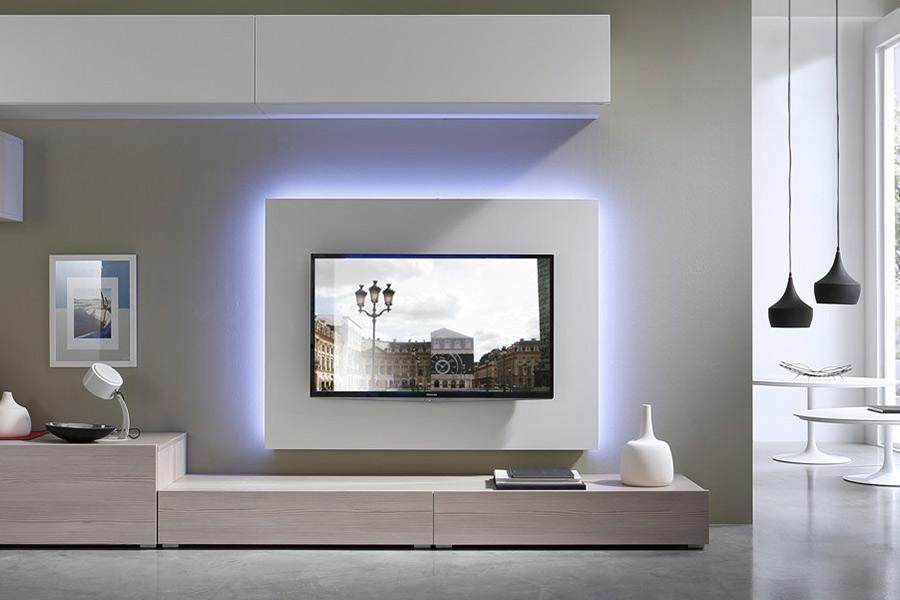 tv meubel met led verlichting trendy compleet van. Black Bedroom Furniture Sets. Home Design Ideas
