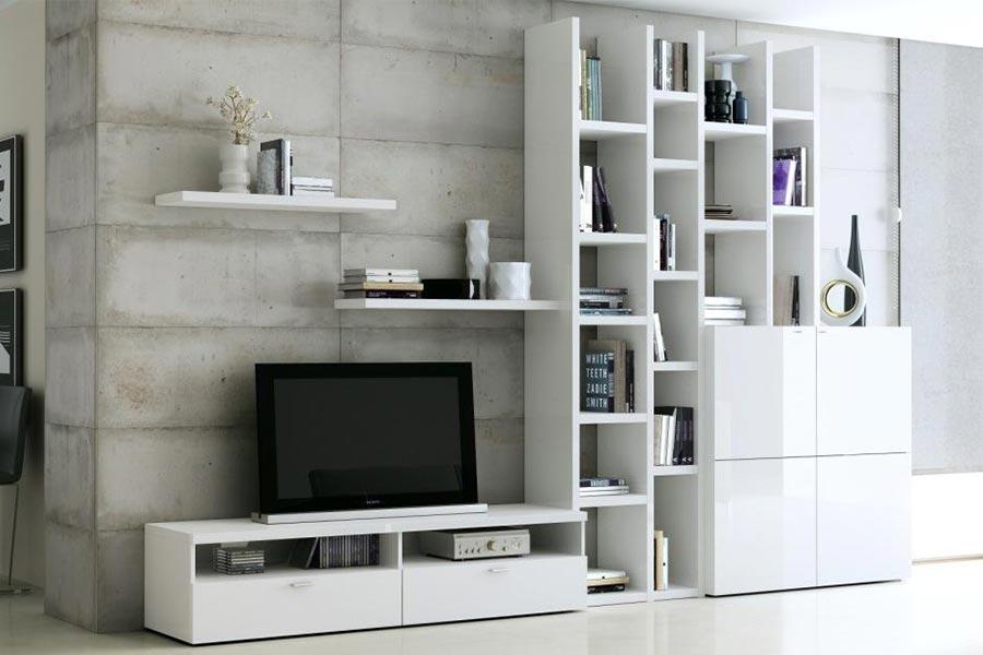 witte tv-kast op maat   Verruim Mooie kasten op maat